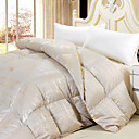 Twin/Full/Queen-size Jacquard Cotton Percale Satin 300 Thread Count Down Comforter