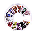 240 Nail Art Rhinestone Glitter Tip Mix Gem Wheel