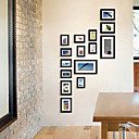 Black Photo Wall Frame Collection - Set of 15