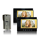 Color Video Door Phone Kit (7 Inch Color LCD Screen, 2 Indoor Screen)