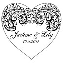 Personalized Heart Favor Stickers - Happiness (pack of 90)
