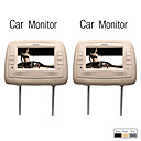 7 Inch Digital Screen Car Headrest Monitor(MP5, USB/SD, 1 Pair)