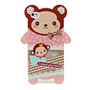 Cuty Cartoon Protective Hard Back Case for iPhone 4 (Pink)