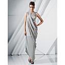 Chiffon Sheath/ Column Jewel Asymmetrical Evening Dress inspired by Blake Lively