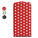 Spot Pattern Leather Case with Back Cover for iPhone4 / 4S