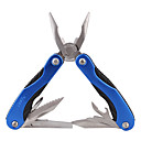 Stainless Steel Multi-Function Pocket Foldable Pliers Toolkit - Blue
