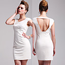 TS Trendy Backless Sparking Bodycon Dress