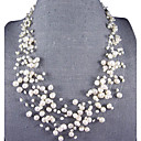15 Strand 4-8MM Pearl Necklace  18-22.5 Inch