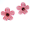 Pink Accent Flower Earrings
