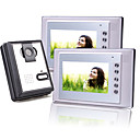 Two 7 Inch Color TFT LCD Video Door Phone with Squared Waterproof Camera (420 TVL)