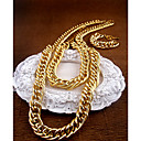 Matching Gold Chain Necklace and Bracelet