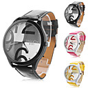 Men's and Women's Casual PU Analog Quartz Wrist Watch (Assorted Colors)