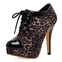 Animal Print And Suede Stiletto Pumps With Laces (More Colors)