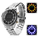 Men's Multifunction Alloy Digital LED Wrist Watch with Watch(Black)
