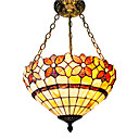 Tiffany Stained Glass Ceiling Light with 3 Lights