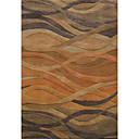 Acrylic Tufted Area Rugs with Waved Stripe Pattern
