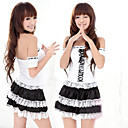 Lovely Girl White And Black Polyester Maid Suit (4 Pieces)