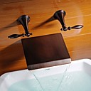 Oil-rubbed Bronze  Waterfall Widespread  Bathtub Faucet
