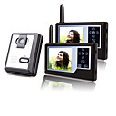Two Wireless 3.5 Inch TFT Monitors Video Door Phone with Camera (Record,Photo)