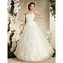 Charming A-line Spaghetti Straps Floor-length Tulle Wedding Dress