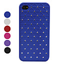 Grid Crystal Styled Protective Case for iPhone 4 and 4S (Assorted Colors)