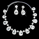 mooie strass lentebries dames sieraden set (45 cm)