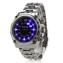 Men's Alloy Digital LED Wrist Watch with Blue Light (Black)