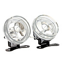 H3 55W Halogen Light Bulb 1000-LM 3000K Yellow Car Fog Lights (Transparent Lens, 1 Pair)