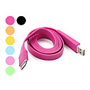 Flat Design Charging and Data USB Cable for iPhone and the New iPad (100cm, Assorted Colors)