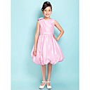 Ball Gown V-neck Knee-length Taffeta Junior Bridesmaid Dress
