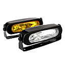 55W 3000K 1000-Lumen H3 Halogen Bulb Transparent Car Fog Lights (DC 9~19V, 1 Pair)
