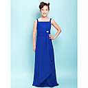 Sheath/Column Straps Floor-length Chiffon Junior Bridesmaid Dress