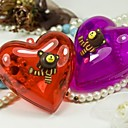 Heart Shape Wedding Favor Holder With Bear - Set of 6 (More Colors)