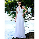 Sheath/Column Halter Neckline Sweep/Brush Train Satin Chiffon Wedding Dress