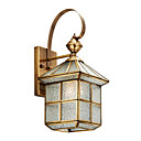 1 - Light Golden Wall Light in Antique Style in Little House Design