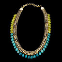 Fashion Colorsful Natural Stone Alloy Necklace