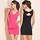 TS Double Button Open-back Bow Dress (More Colors)