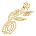 Elegant Golden Flower Style Bookmark