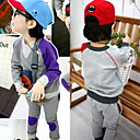Baby Color Matching T-shirt Patch Trousers Set