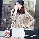 Long Sleeve Turndown Collar Party/ Career Lambskin Leather Jacket With Pockets(More Colors)