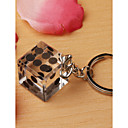 Lucky Vegas  Crystal Dice Key Chain Favor