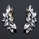 Fashion Clear Rhinestone Alloy Earrings