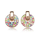 Gorgeous 10% Silver CZ Cubic Zirconia Alloy Earrings (More Colors)