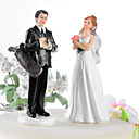 Golf Fanatic Couple Wedding Cake Topper