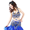 Dancewear Polyester With Beading/Rhinestones Performance Belly Dance Top/Belt For Ladies More Colors