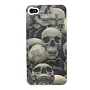 3D Effect Skulls Pattern  Case for iPhone 4 and 4S