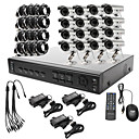 ultra baixo preo 16 canais cctv dvr kit (h. 264, 16 ao ar livre cmeras coloridas  prova d'gua)