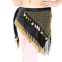 Dancewear Velvet With Coins/Beading Practice Belly Dance Hip Scarf For Ladies More Colors