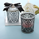 Damask Traditions Frosted Glass Tea Light Holder