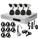 a bassissimo prezzo 8ch cctv dvr kit (h. 264, 4 esterne impermeabili e 4 telecamere da interni ir)